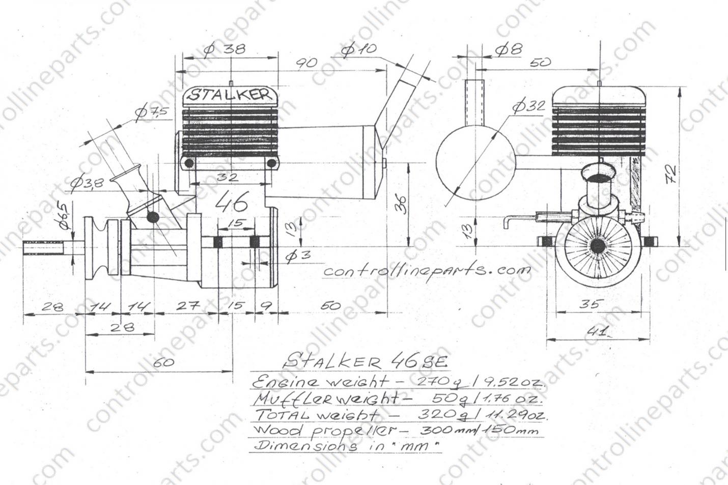Stalker 46 SE  Stunt Engine