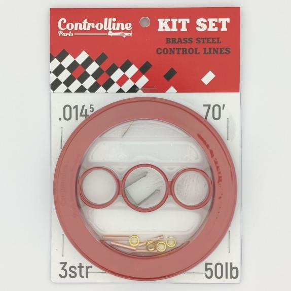 KIT SET CONTROL LINES BRASS STEEL 0.0145 IN 70 FEET 3 STRAND 50 LB