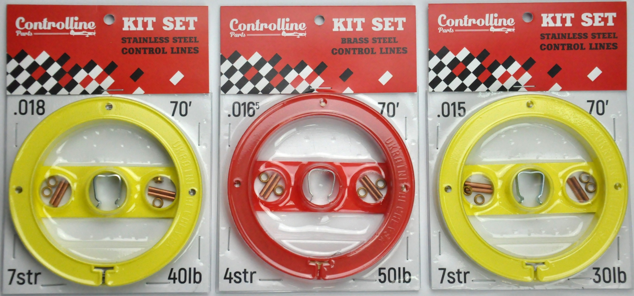 KIT SET CONTROL LINES BRASS STEEL 0.0165 IN 70 FEET 4 STRAND 50 LB