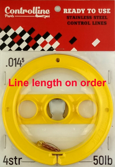 Lines 0.0145in/0.367mm line length on order 4 strand 50 lb